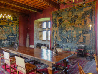 Chateau du Montal 018 - Dining Room by HermitCrabStock