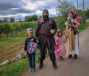 Halloween 1702 - Medieval Family by HermitCrabStock