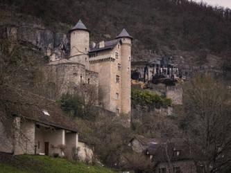 Medieval Castel 03 - Larroque-Toirac 2018 by HermitCrabStock