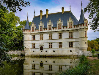 Azay-le-Rideau castle 02 by HermitCrabStock