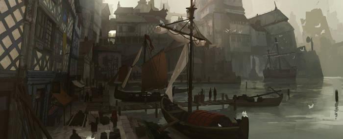 Medieval Port by Kurobot