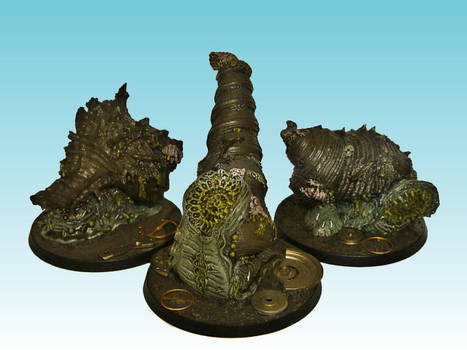 Giant Plague Snails by Nergling