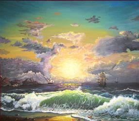 Sea sunset by doctrina-kharkov