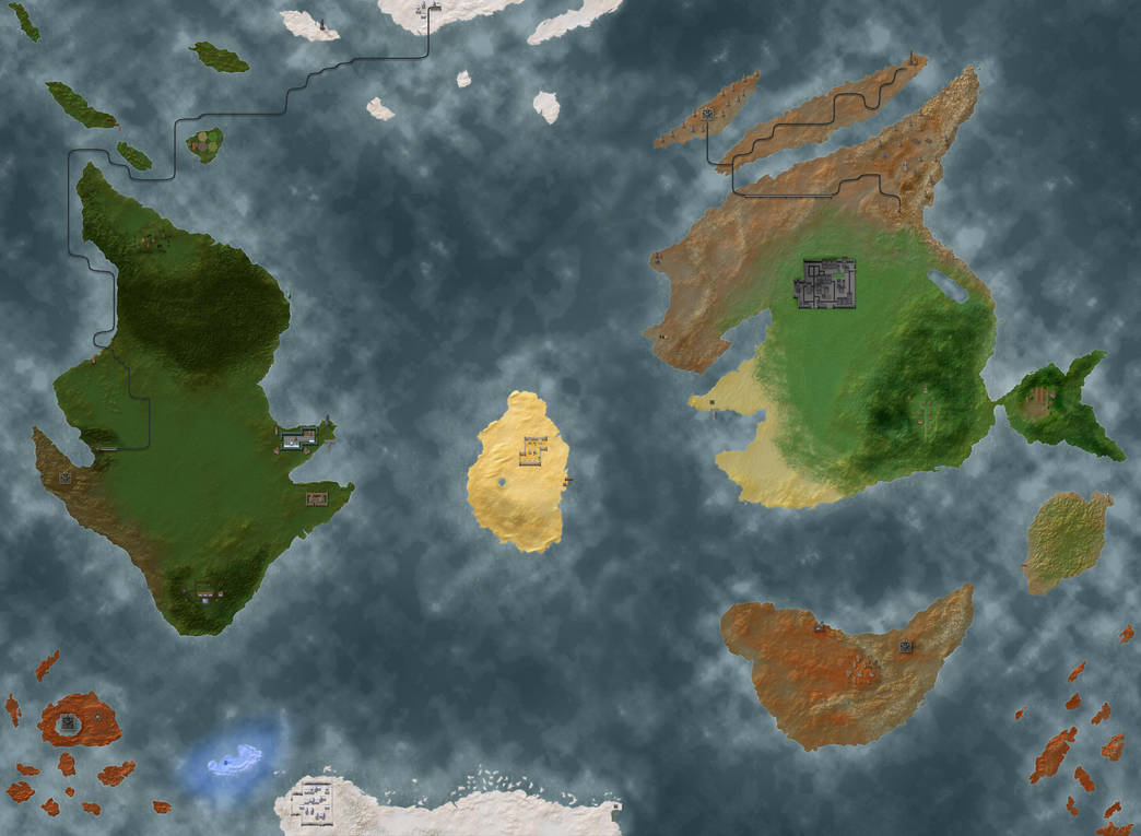Overlord World Map States Maps