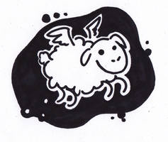 ::Flying Sheep In The Sky:: by Pascalou