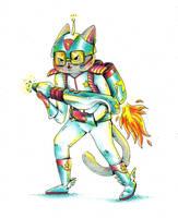 Cosmic Cat by Pascalou