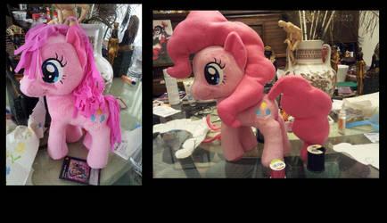 Pinkie Pie plush hair fix! by MidnightmareDream