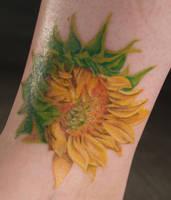 Sunflower tattoo by captainmonkeypants