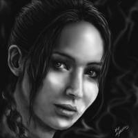 Katniss Everdeen (Jennifer Lawrence) by Pandoras-Encore