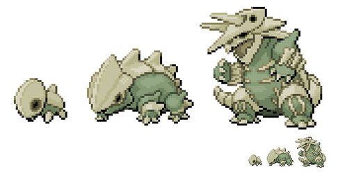 #304-306: Spinon, Femuron and Skelegron by Kingfin128