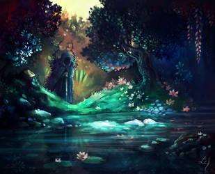 Silent Lake by Ludmila-Cera-Foce