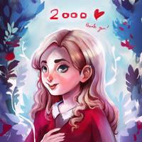 Thank you (2000 watchers!) by Ludmila-Cera-Foce