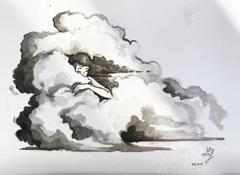 Inktober 2018 - Nature Creature 05 : Clouds by Ludmila-Cera-Foce