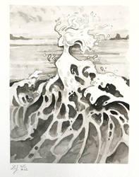 Inktober 2018 - Nature Creature 22 : Foam by Ludmila-Cera-Foce