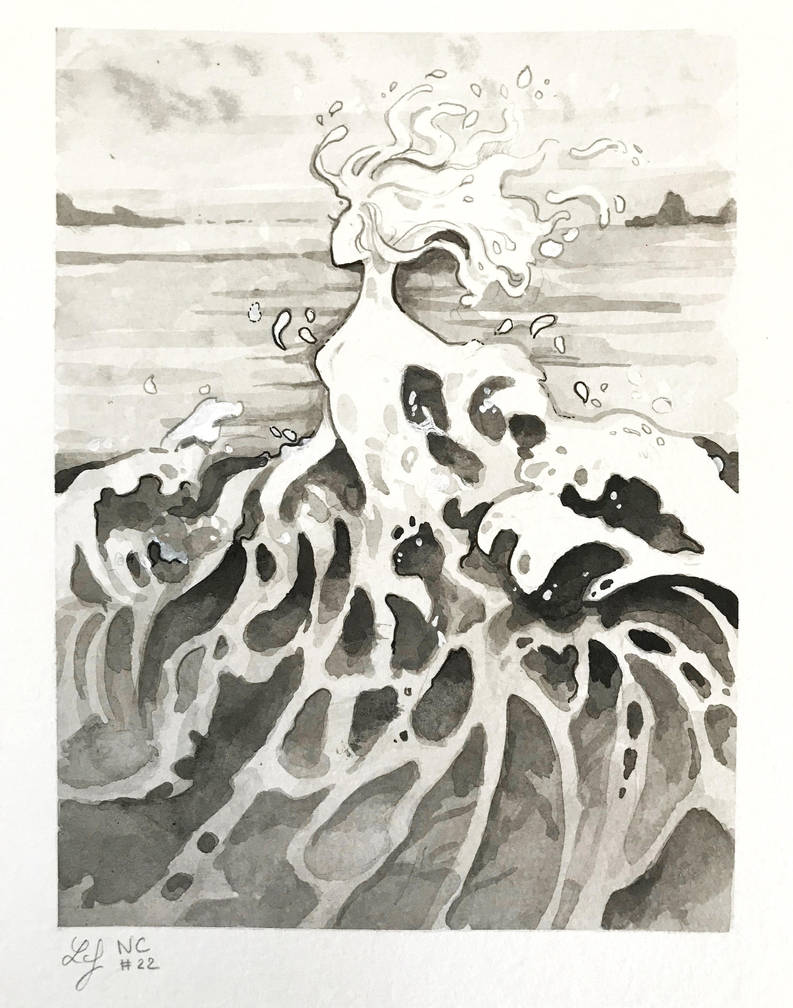 Inktober 2018 - Nature Creature 22 : Foam by Ludmila-Cera-Foce