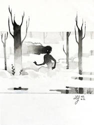 Inktober 2018 - Nature Creature 24 : Mist by Ludmila-Cera-Foce