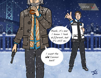 Hank and... RK900? RK800? by Katy133