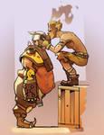Junkrat And Roadhog by RememberTheBeginning