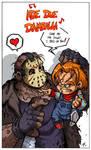 Chucky vs Jason by Boredman