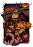 Halloween Town - Zombie Band by Boredman