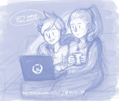 Netflix And Chill .widowtracer by sexyfairy