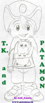 TK and Patamon by JediAmara