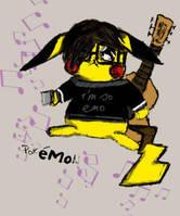 Emo Pikachu by JediAmara