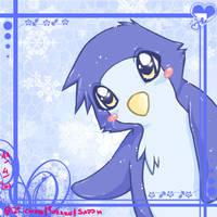 sweet little penguin -blue- by lil-saph-fox