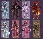 [FNaF] - Themed Adopts (Closed) by TwilightTheRaven