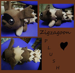 Zigzagoon Plushie by Pickelicious