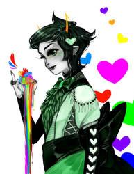 rainbow drinker by RainMentality