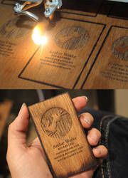 Wood Business Cards by Nortiker