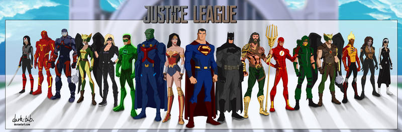 Justice League Live (Movie-CW)Vol2 (YoungJustice) by dark-BuB