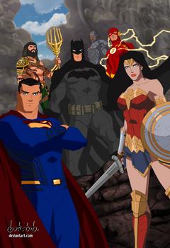 Justice League Movie verse 2017 by dark-BuB