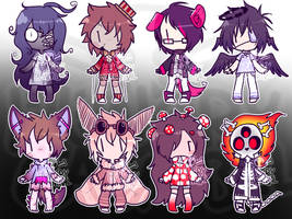Halloween Themed Adoptables - OPEN by Hungry-Cannibal