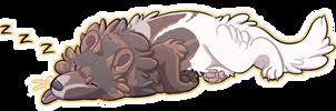 Sleepy Puppy Ych complete by ADragonSoulArt