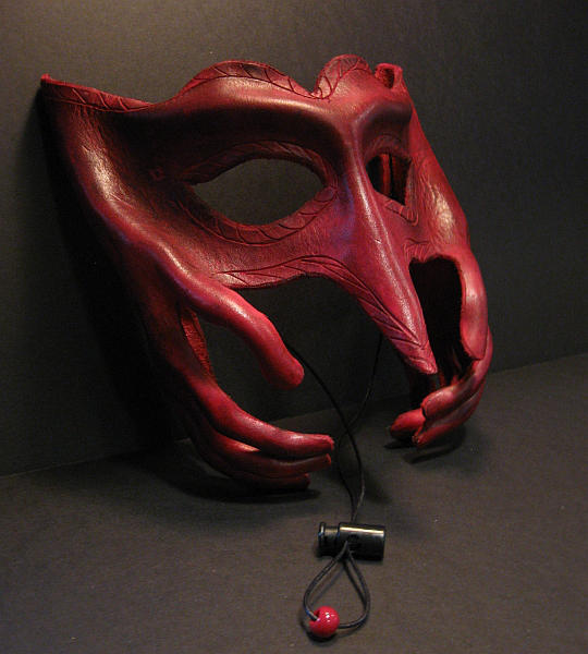 Mask with Hands by Cimeara