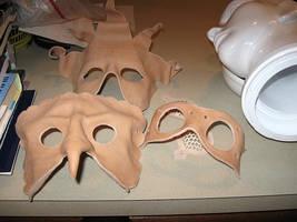 Undyed Masks WIP by Cimeara