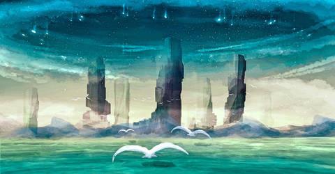 Starstone Pillars by Kunochai