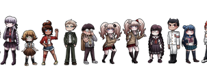 danganronpa redesigns by crowwithashortcake
