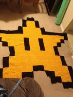 Invincibility Star Blanket by LunarJadeStyles