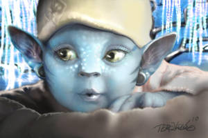 Baby Na'vi by spoofdecator