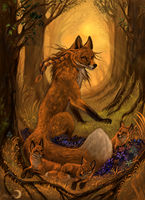 The fire spirit of the forest by FlashW
