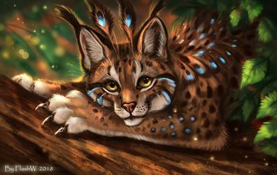 Lynx's Feathers by FlashW