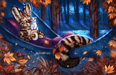 Autumn night by FlashW