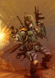 Boba Fett's a Bad Ass by MightyMoose