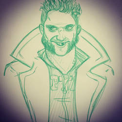 Captain Boomerang sketch by Anamated