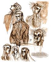 Thranduil sketches by ElisEiZ