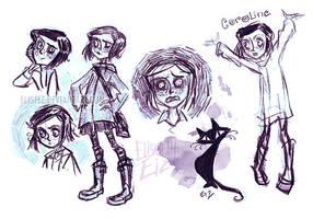 Coraline sketch by ElisEiZ
