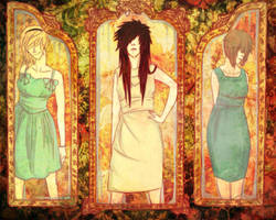 in triptych by macabrehello